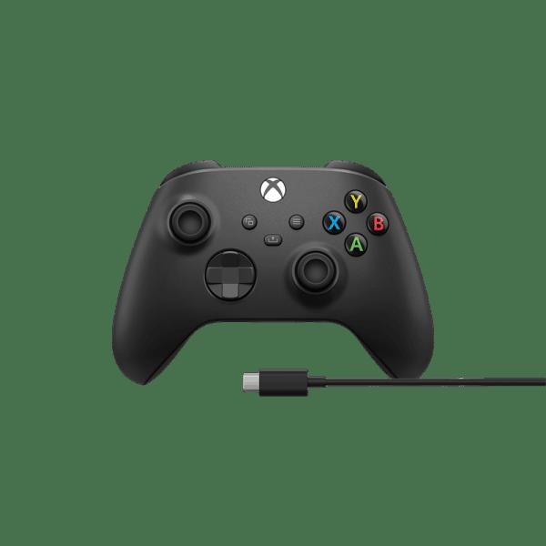 בקר XBOX Series S X אלחוטי בצבע שחור כולל כבל ® USB-C