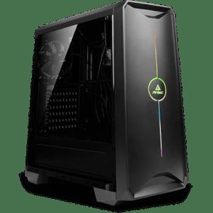 """מק""""ט יצרן GC-GL106050 מארז Antec NX200 ספק כוח ANTEC ATOM V550 לוח B460M GAMING HD מעבד i5 10400 קירור מעבד Antec A30 זכרון 16GB DDR4 2666MHZ אחסון 480SSD כונן אופטי ללא ליבה גרפית Intel® UHD Graphics 630 חיבורי מסך VGA + HDMI מערכת הפעלה Blank Disks תקופת אחריות 3 שנים"""